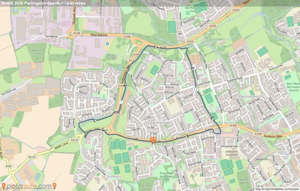 Big Bike Ride Paringdon Sports Map