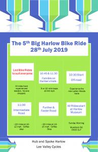 The 5th Big Harlow Bike Ride 2019 @ Harlow Museum