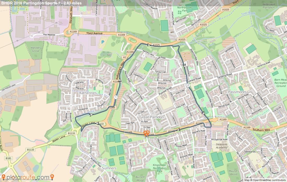 Big Bike Ride Paringdon Sports Map